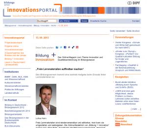 Screnshot innovationsPORTAL