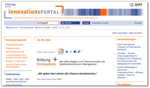 Screenshot Innovationsportal