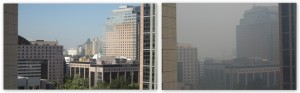 Blick aus dem (Hotel-) Fenster